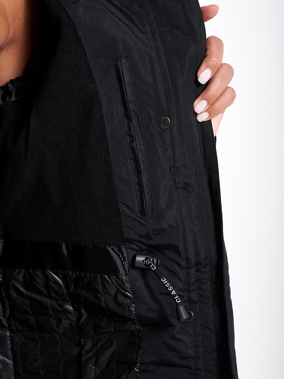 AZALEA BLACK WOMENS PARKA COAT
