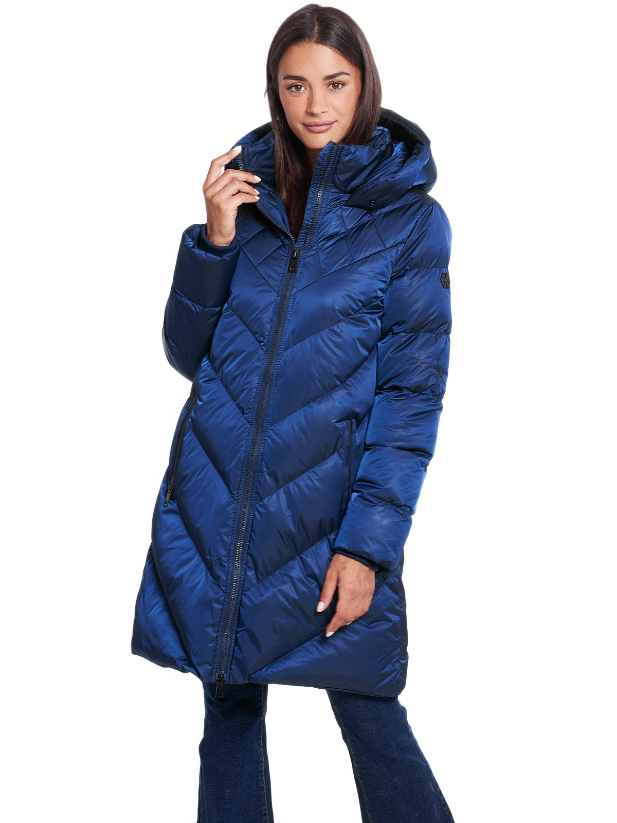 DAHLIA NAVY WOMENS PUFFER COAT