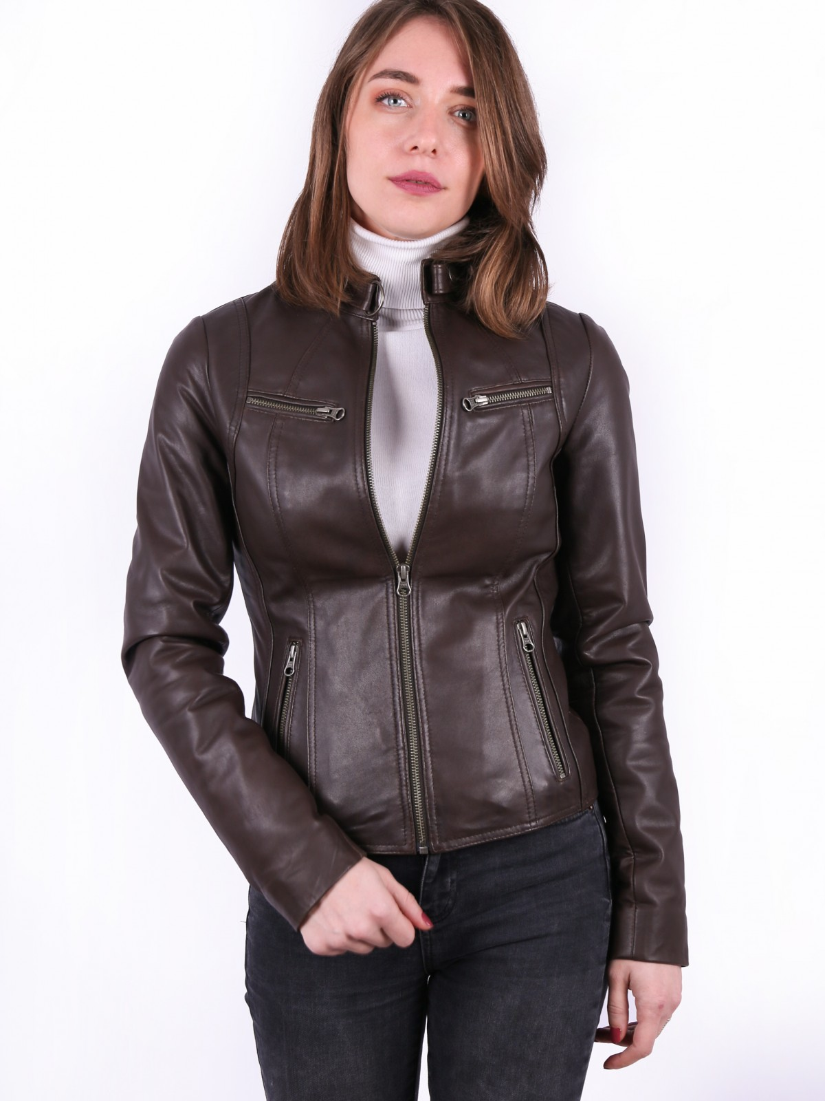 Genuine leather jacket for ladies, 1191.